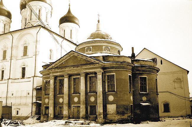 Знаменский храм обители Спаса-на-Новом. Зима 1982 года