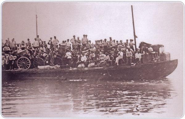 Переезд на погрузку к пароходу, уходящему в Болгарию Июль 1921 г.