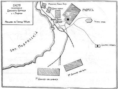 Схема расположения Донского корпуса уг. Мудрое
