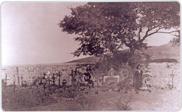 Русские могилы на международном военном кладбище у г. Мудрое. Май 1921 г.